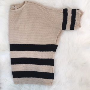 Forever 21 Stripe Oversized Knit Tee